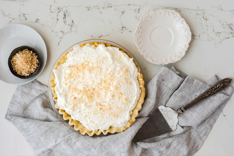 dessert pie on decorative plate